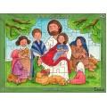 Puzzle Ježíš s dětmi